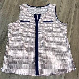 Paper moon for stitch fix   sleeveless top